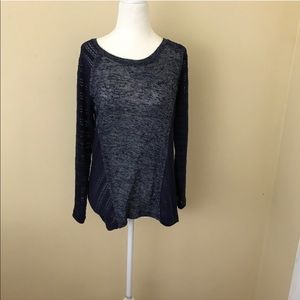 Knit navy sweater top
